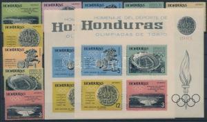 Honduras stamp Tokyo Summer Olympics set + block 1964 MNH Imperf WS185953
