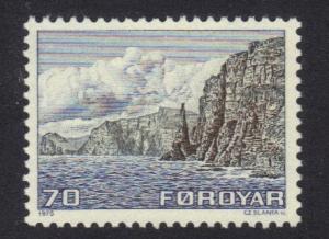 Faroe Islands  #11   1975 MNH definitives 70 ore