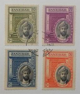 Zanzibar 214-17. 1936 Reign Anniversary, used