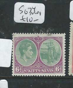 ST KITTS NEVIS (PP3012B) KGVI 6D   SG 74  MOG