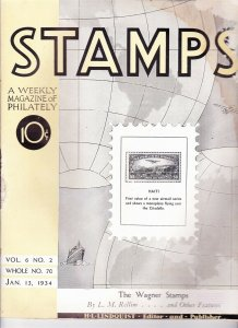 Stamps Weekly Magazine of Philately January 13, 1934 Stamp Collecting Magazine