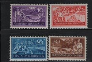 LIECHTENSTEIN 132-135 (4) Set, Hinged, 1937 Construction