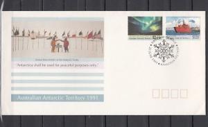 Australian Antarctic, Scott cat. L81-L82. Antarctic Treaty. First day cover.