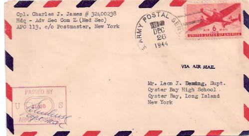 United States A.P.O.'s 1944 Postal History
