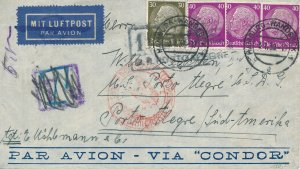Covers Zeppelin 1939 Airmail Argentina Germany Condor Luftpost South America 3