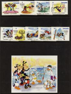 Grenada 1185a-94a MNH Disney, Sports, Olympics, Mickey