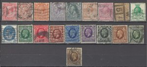 COLLECTION LOT OF #1079 GREAT BRITAIN 19 STAMPS 1912+ CV + $39