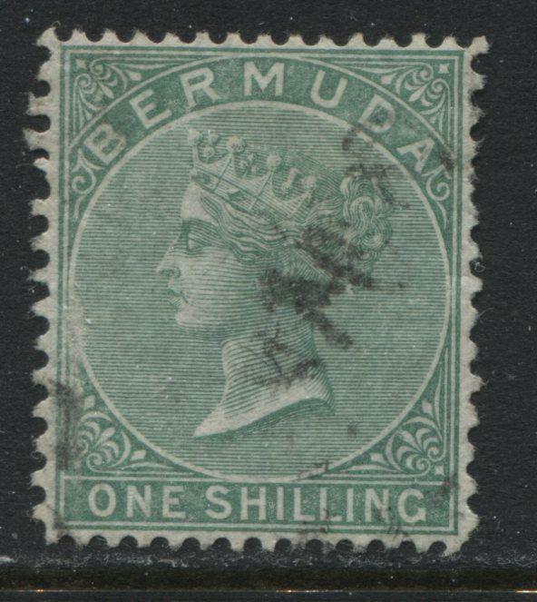 Bermuda QV 1894 1/ green perf 14 by 12 1/2 used (JD)