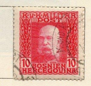 Bosnia Herzegovina 1912 Early Issue Fine Used 10h. NW-113580