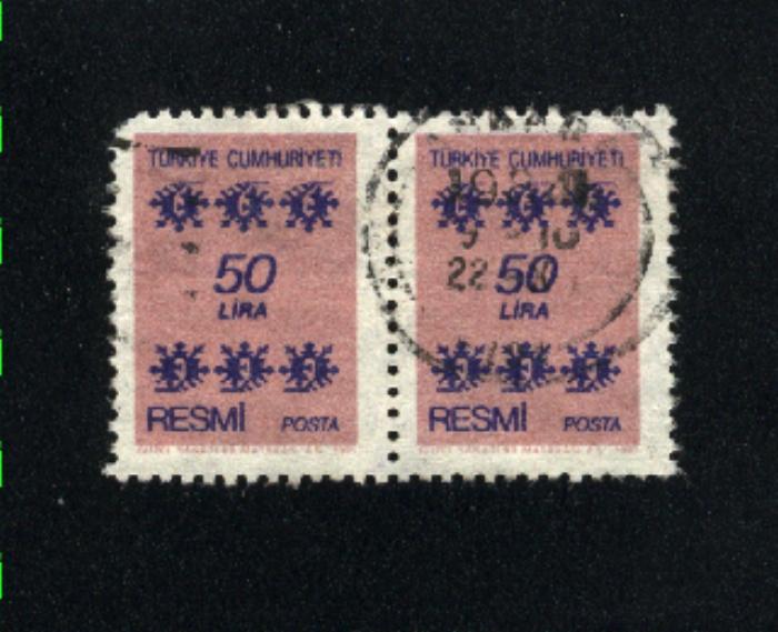 Turkey O164 pair used 1981 PD