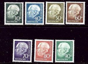 Germany 755-61 MNH 1956-57 complete set