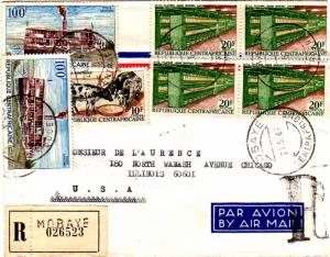 French Equatorial Africa Central African Republic 10F Baoule Cattle, 20F Spin...