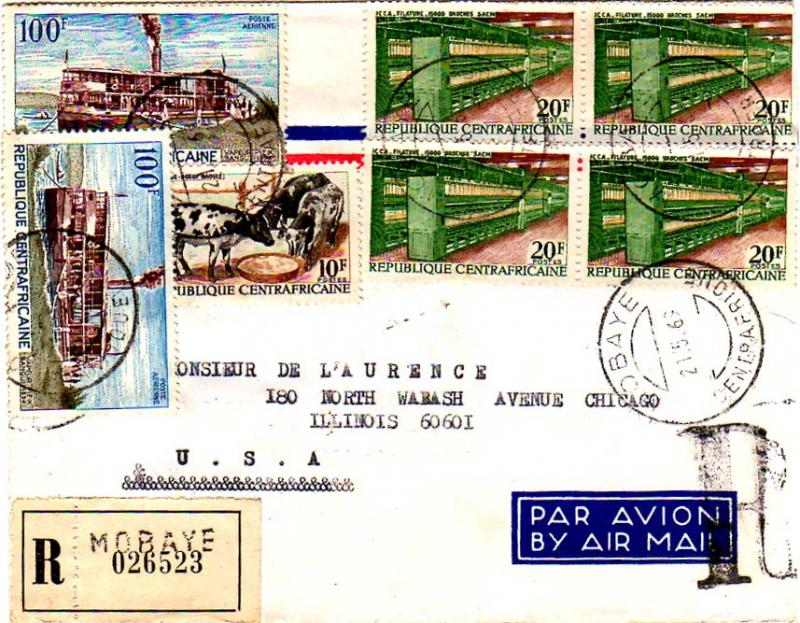 French Equatorial Africa 1969 Postal History