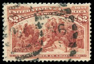 momen: US Stamps #242 Used F/VF
