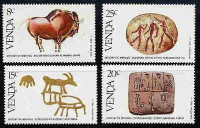 VENDA 1981 PICTOGRAPHS - HISTORY OF WRITING MINT STAMPS
