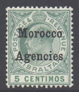 Morocco Scott 27 - SG24, 1905 Gibraltar 5c MH*