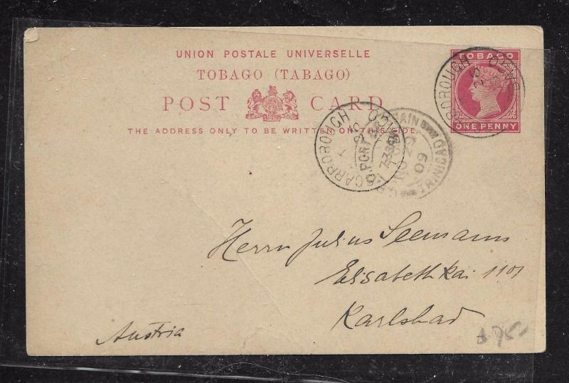 TOBAGO (PP1301B) QV 1D PSC TO GERMANY WITH MSG 1905