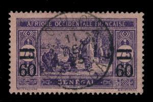 SÉNÉGAL - 1923 - CAD DOUBLE CERCLE LOUGA/SÉNÉGAL SUR N°87