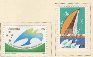 AUSTRALIA Scott 623-634 MH* 1975  Papua Independence set