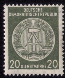 DDR (1956) Mh,Og ,Rare Coat of Arms Michel #32 C3 Arc To Right VF