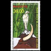 MAYOTTE 1998 - Scott# C3 Bird Set of 1 NH