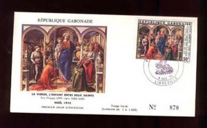 008512 GABON Classical PAINTING 1975 FDC LIPPI