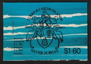 Turks and Caicos Birds Royal Silver Jubilee Booklet 1977 MNH SG#SB1