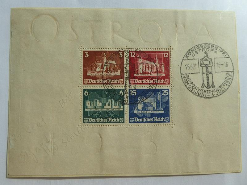 Germany Souvenir Sheet 1935   Sc# B68  CV $700.00       (B#6)