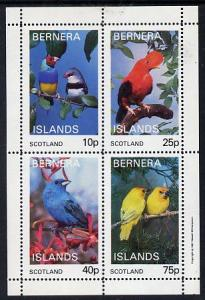 Bernera 1981 Exotic Birds perf  set of 4 values (10p to 7...