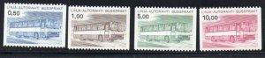 Finland sc Q14-17 1981 Bus Parcel stamp set mint NH