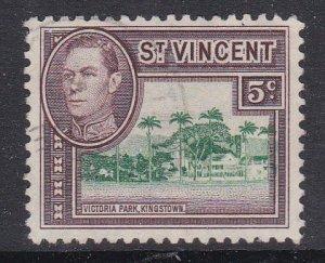 St. Vincent #160 F-VF Used Victoria Park, Kingstown