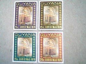 1970  Guyana  #118 - #121   MNH  Set of four stamps