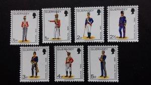 Guernsey 1974 Military Uniforms Mint