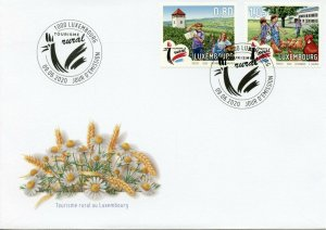 Luxembourg Landscapes Stamps 2020 FDC Rural Tourism Architecture Chickens 2v Set