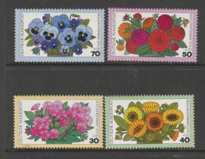 Germany 1976 Humanitarian Relief Fund, Garden Flowers UM SG 1796/9
