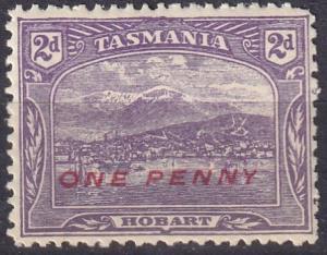 Tasmania #117 F-VF Unused CV $2.75 (A19130)
