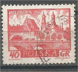 POLAND, 1960, used 40g Historic Towns, Scott 950