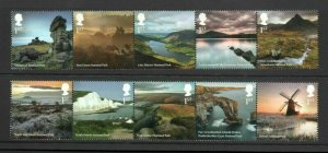 2021 SG: 4465/75 - NATIONAL PARKS  - UNMOUNTED MINT