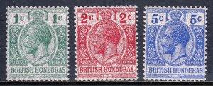 British Honduras - Scott #85-87 - MLH - SCV $9.15