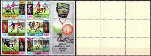 Ras al-khaimah. 1970. 354A-59A. World Cup. MNH.
