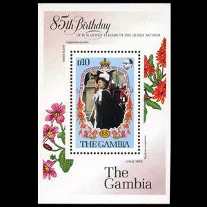 GAMBIA 1985 - Scott# 559 S/S Queen Mother LH