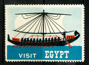 Egypt Stamps Old Label NH Visit Egypt