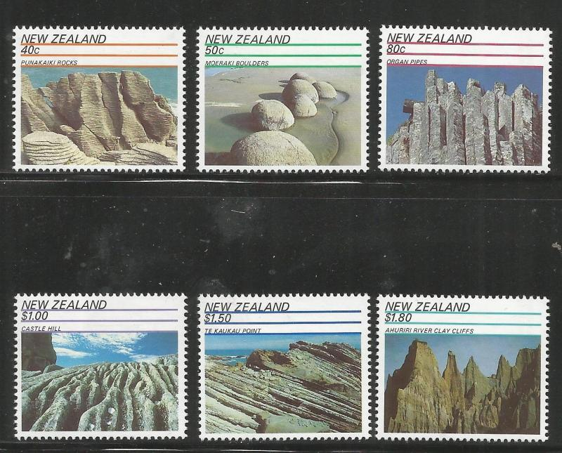 NEW ZEALAND 1038-1043  MNH,  ROCK FORMATIONS