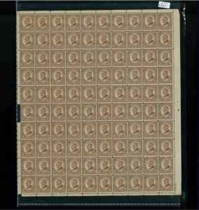 1927 United States Postage Stamp #633 Plate No. 19181 Mint Full Sheet