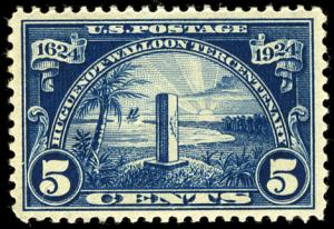 US #616 SCV $190.00 XF-SUPERB mint never hinged, bold color, extremely well c...