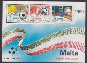 Malta # 763a, World Cup soccer, Souvenir Sheet, Mint NH, 1/2 Cat..
