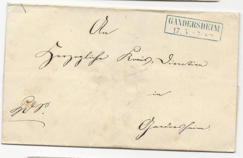 GERMAN STAMPLESS COVER Gandersheim