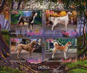 Dog English Setter Souvenir Sheet of 4 Stamps Mint NH