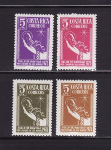 Costa Rica RA45-RA48 Set MNH Christmas, Christ Child (E)