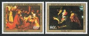 Gabon C202-C203,MNH.Michel 614-615. Christmas 1977.Peter Paul Rubens.